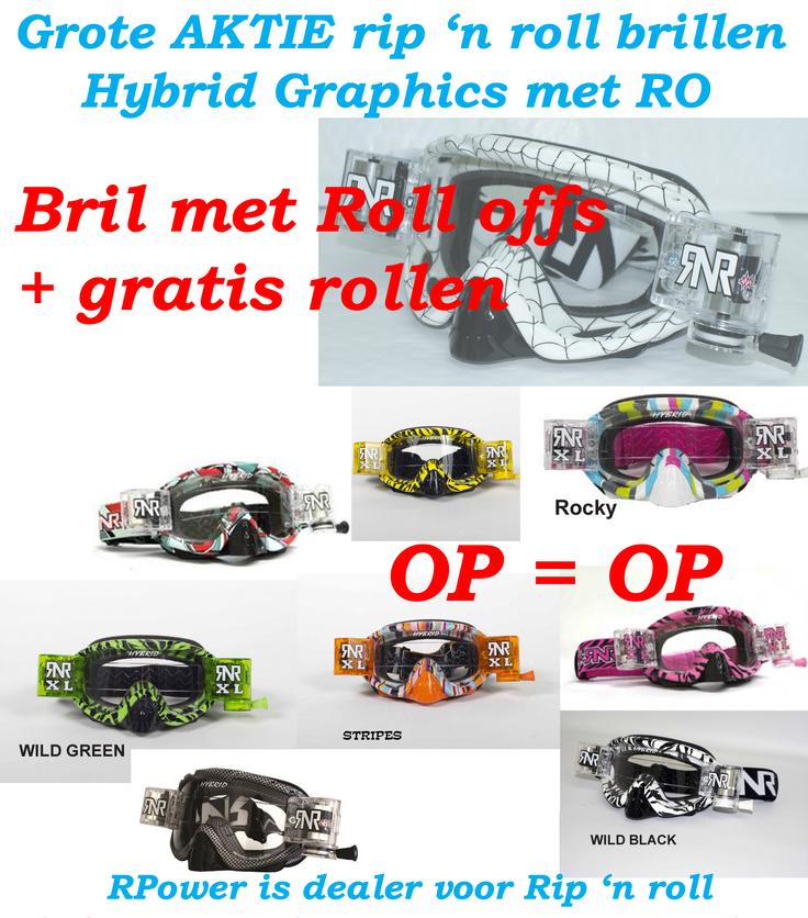ACTIE Rip'n Roll bril + gratis zak rollen
