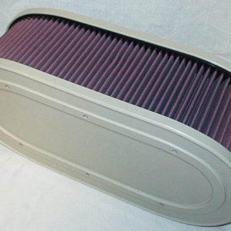 K&N filter groot ovaal voor 4 lucht inlaten
