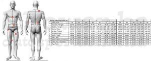 Maattabel-mannen-overalls-OMP-RPower.be