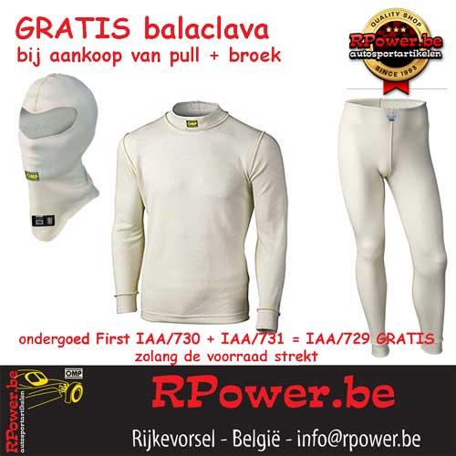Ondergoed FIA First Pull + broek = balaclava GRATIS